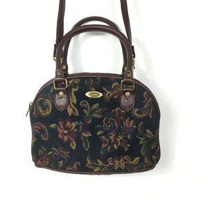 Vintage 90s Tapestry crossbody dome bag